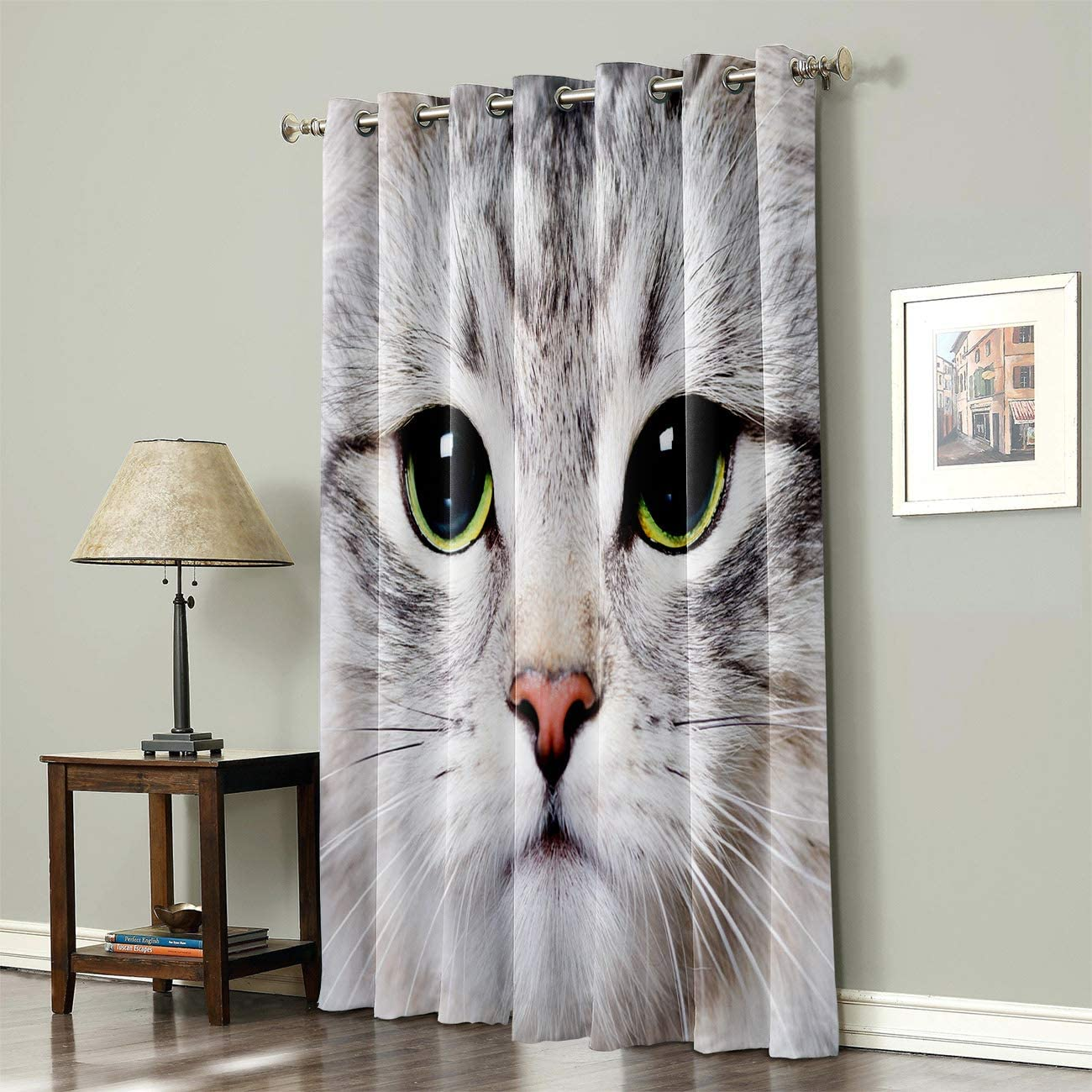 SODIKA 開催中 Grommet Top Curtains for Bedroom Treat Window Living Room 超特価