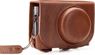 Megagear MG1287 Leica C Typ 112 Ever Ready Genuine Leather Camera Case & Strap with Battery Access, Brown