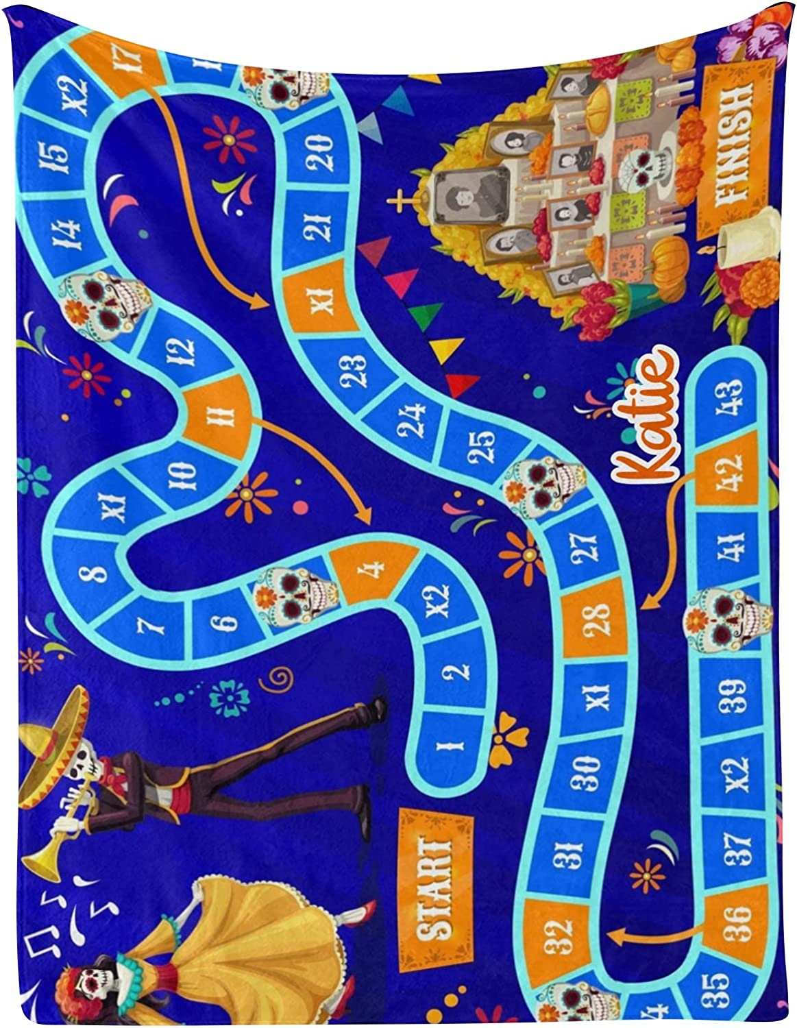 Game Chicago Mall Skeletons Skull Flower Personalized Name Large discharge sale Blankets Baby with