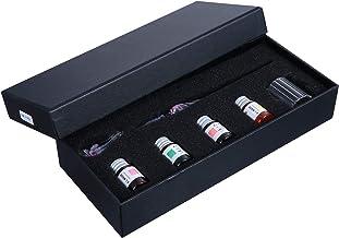 Tomaibaby 1 Set Glazen Kalligrafie Set Met Doos Glas Gedompelde Pen Inkt Regenboog Kristallen Pen Kleurrijke Inkt Voor Kun...