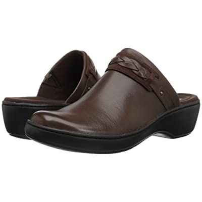Clarks Delana Abbey (Dark Brown Leather) Women