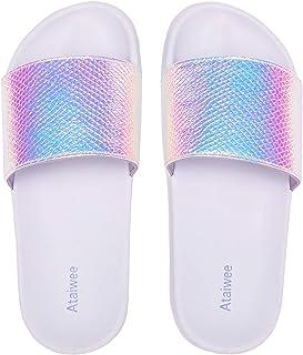 Tortor 1Bacha Kid Girls Beaded Bow Princess Slip On Flat Shoes Ivory 11.5 M US Little Kid