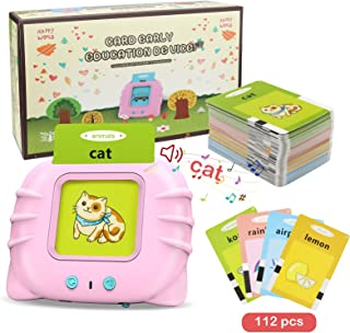 Topcolor Educational Toy for Kids Listen and Learn Literacy Audible Flash Cards for Toddlers 1 2 3 4 5 6 Years Old Boys Gi...