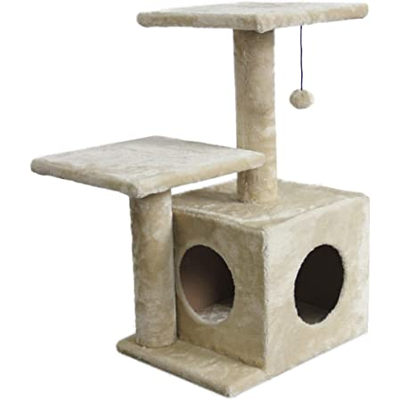 Amazon Basics Cat Tree with Cave, Scratching Posts