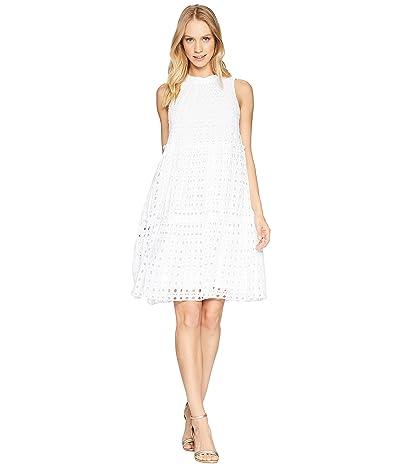 Lilly Pulitzer Indira Dress (Resort White Stripey Rayon Eyelet) Women