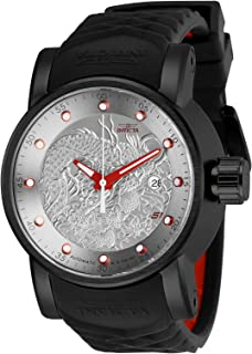 Men's S1 Rally Stainless Steel Automatic-self-Wind Watch with Silicone Strap, Black, 24 (Model:...