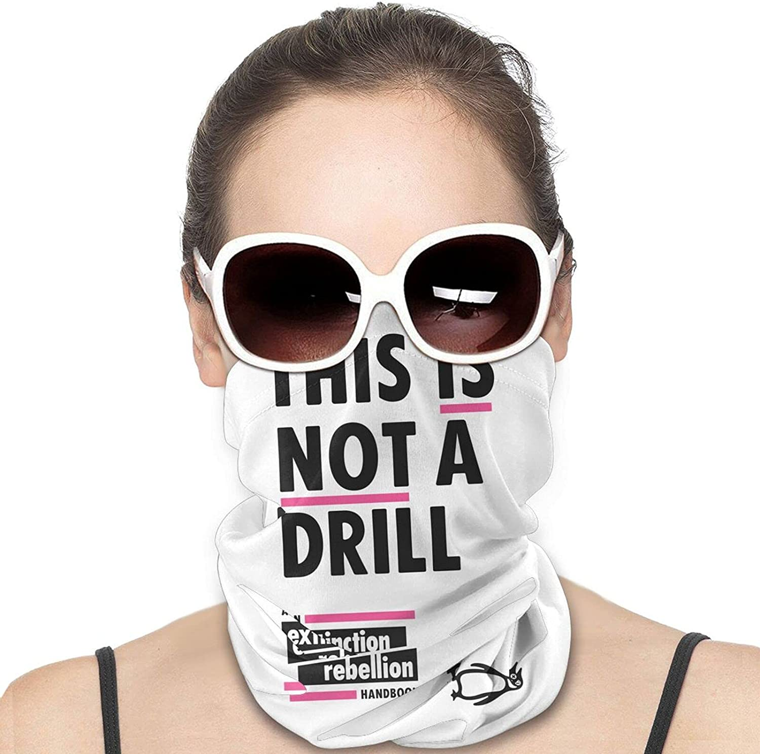 This is NOT A Drill Round Neck Gaiter Bandnas Face Cover Uv Protection Prevent bask in Ice Scarf Headbands Perfect for Motorcycle Cycling Running Festival Raves Outdoors