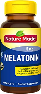 Nature Made Melatonin 5mg Tablets, 90 Count for Supporting Restful Sleep† (Packaging May Vary) - 4 Pack
