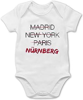 Shirtracer Städte & Länder Baby - Weltstadt Nürnberg - Baby Body Kurzarm für Jungen und Mädchen