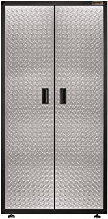 Gladiator GALG36KDYG Ready-To-Assemble Gearbox Steel Cabinet, Silver Tread