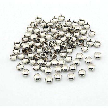 heart-shaped claw nail 100pcs prongs studs metal nail claw nail studs 7*5mm silver prongs studs