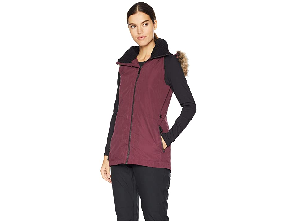 Volcom Snow Longhorn Insulated Vest (Merlot) Women