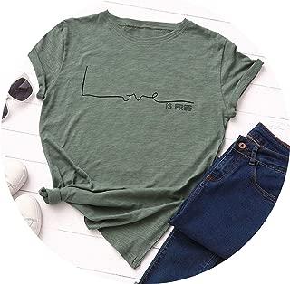 Love Letter Print T Shirt Women Cotton O Neck Short Sleeve Summer T-Shirt Tops Casual Tshirt