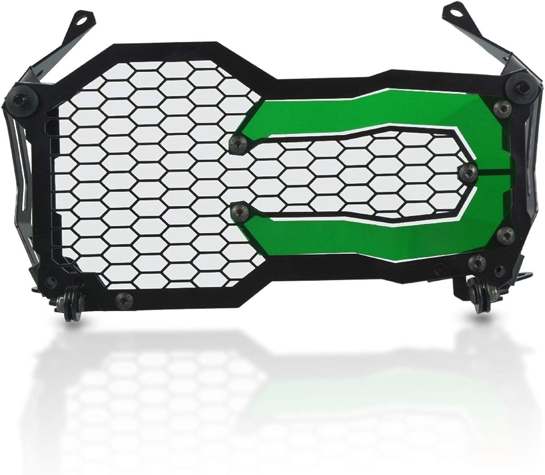 Color : Green QAIK Motorrad-Scheinwerfer-Besch/ützer-Gitter-Guard-Abdeckung f/ür BMW R1200GS R1250GS R 1200 1250 GS ADV LC-Abenteuer-Acryl-Lampen-Patch