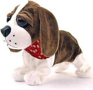 Interactive Animated Walking Pet Electronic Dog Plush Sound Control Toy Puppy - Barks, Sits, Walks (Dog)