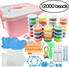 Beads Toy Water Fuse Beads Kit 12000 Pieces Magic Water Sticky Beads 36 Colors Water Spray Beads Set with 2pcs Mini Spray ...