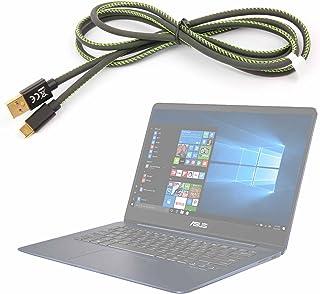 DURAGADGET Cable de USB C a USB 3.1, en Negro y Verde. 1.5 m. ¡Va cambiando de Color! para ASUS ROG GL702VS-BA007T / ASUS VivoBook Flip 14 TP410UA-EC228T / ASUS ZenBook 3 Deluxe UX490UA-BE064T