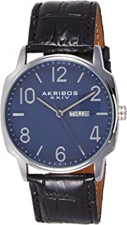 Akribos Xxiv Amazon-Exclusive Men's Ak801Bu Japanese Quartz Black Watch, Analog Display