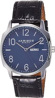 Akribos Xxiv Amazon-Exclusive Men's Ak801Bu Japanese Quartz Black Watch, Analog Display