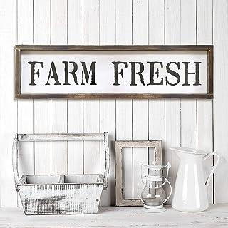 Farm Fresh Sign Stencil - Reusable DIY Vintage Farmhouse Stencil (Large)