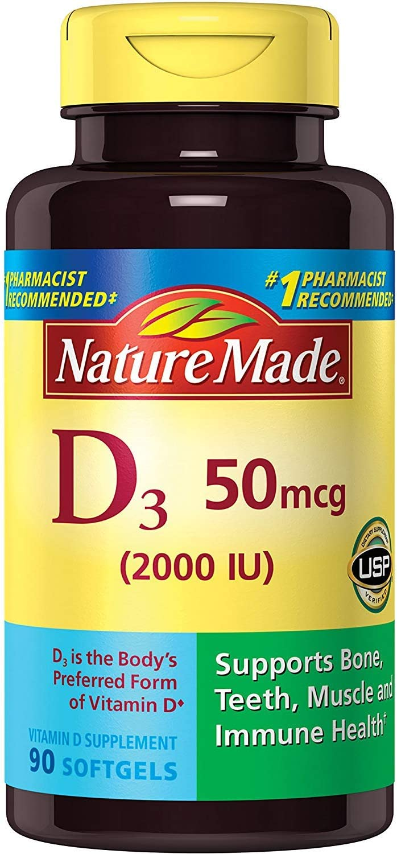Max 40% OFF Nature Made Vitamin D3 2000 favorite IU Liquid Pack 2 ea 90 of Softgels