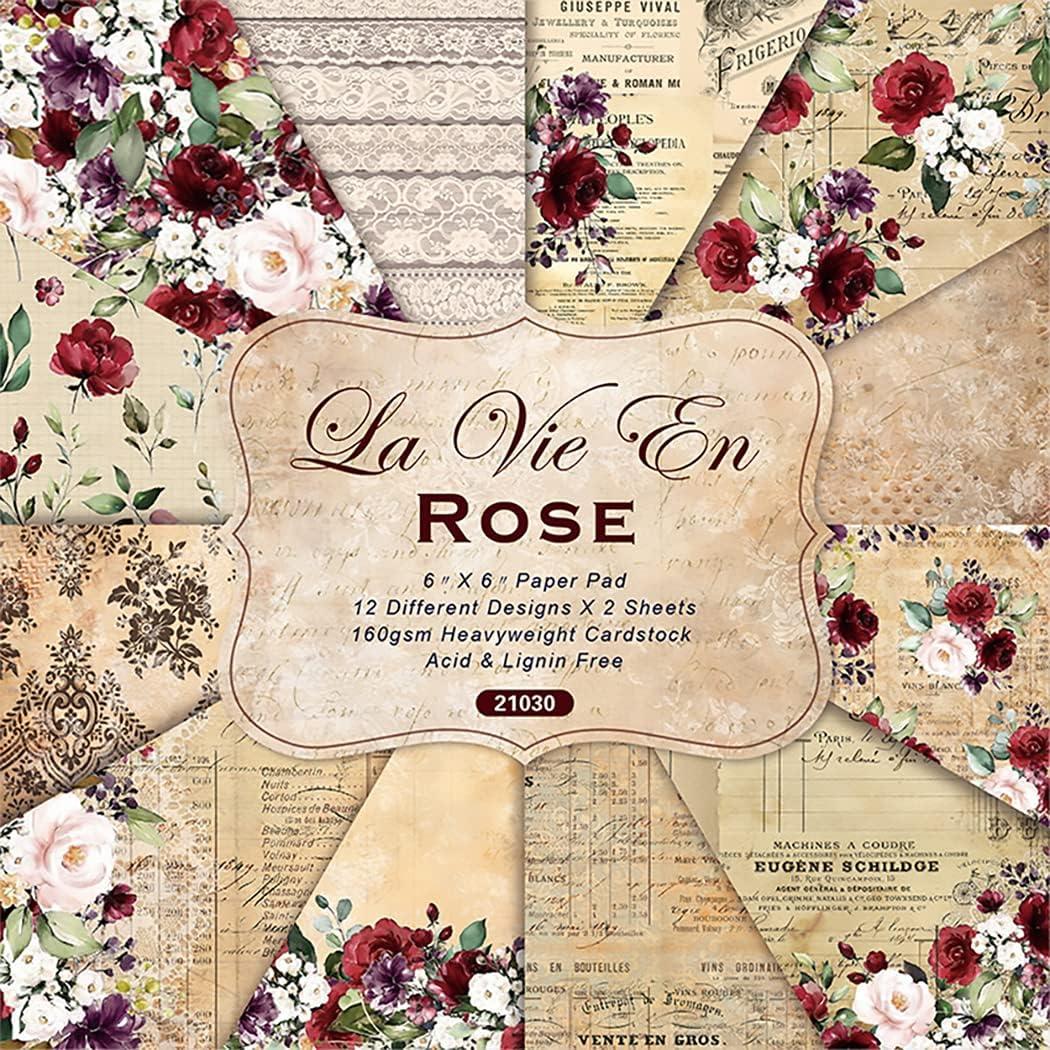 VONDYU Floral Cardstock Paper Popular popular Rose 6