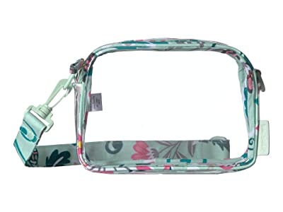 Vera Bradley Clearly Colorful Stadium Crossbody (Mint Flowers) Handbags
