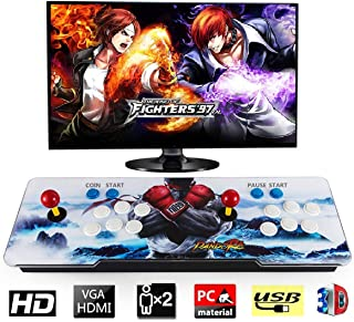 Happybuy 1500 Classic Arcade Game Machine 2 Players Pandoras Box 9s 1280x720 Full HD Video Game Console with Arcade Joystick Support HDMI VGA Output (White&Blue)