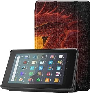 Pokrowiec Fire Tablet 7 cali etui ostre kolczyki oczy Kindle Fire 7 HD etui do tabletów Fire 7 (9. generacji, modele z 201...