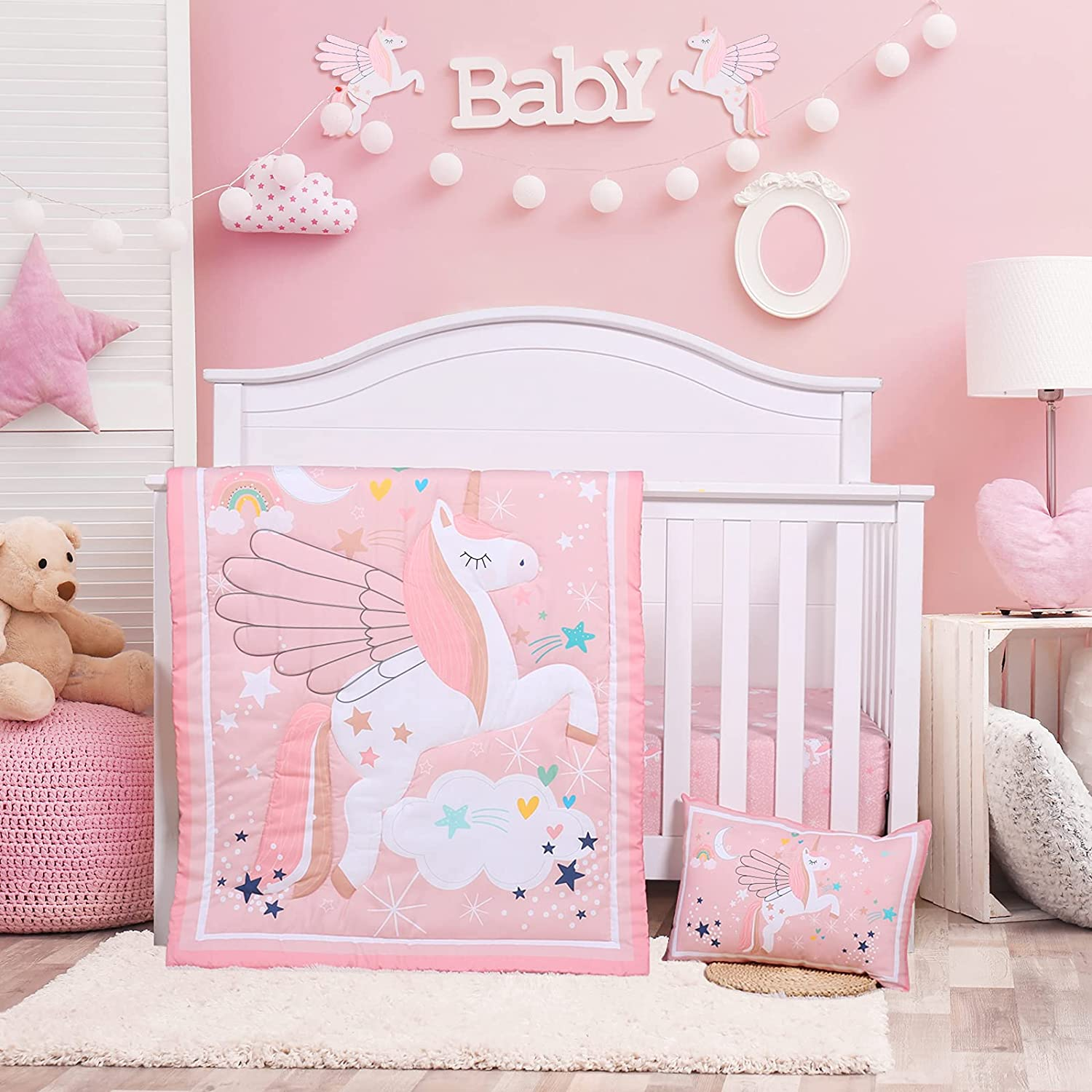 Crib Ranking TOP8 Bedding Set for Girls - Pink Sets Nursery Online limited product 3 Baby