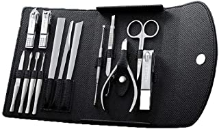 IhDFR Toe Nail Clippers Heavy Duty, Manicure Set 14pcs Professional Nail Clippers Kit Pedicure Care Tools-Stainless Steel Grooming Tools for Travel