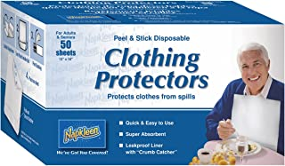 Napkleen Disposable Clothing Protectors, Peel and Stick, 50-Count (Pack of 12)