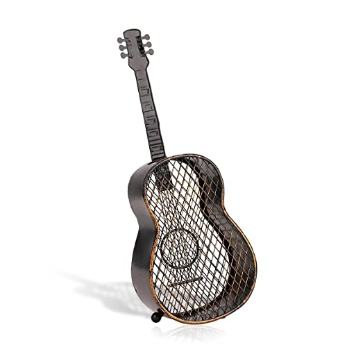 TOOARTS - Contenedor de Corchos de Vino - Guitarra - Organizador de Tapones Accesorios para Hogar Cocina Barra Bar (Artesanía de Hierro)
