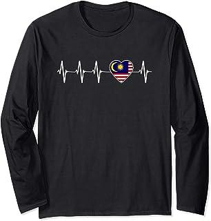 Malaysian Heartbeat I Love Malaysia Heart Flag Gift  Long Sleeve T-Shirt