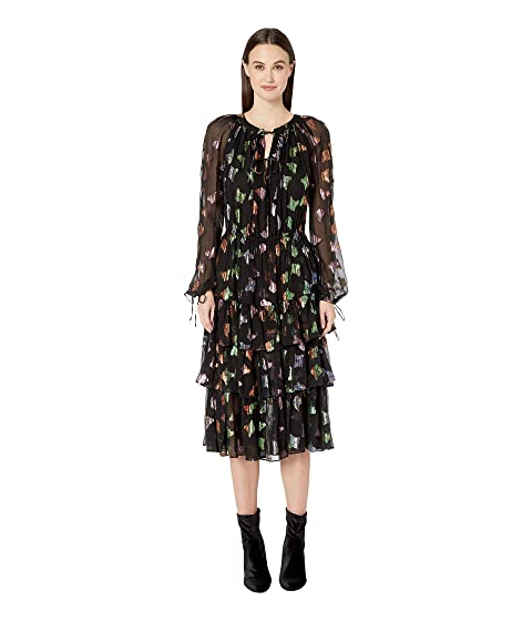 355d61f684a The Kooples Lurex Butterfly Print Dress at Zappos.com
