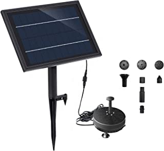 solar powered water fountain pump with battery backup