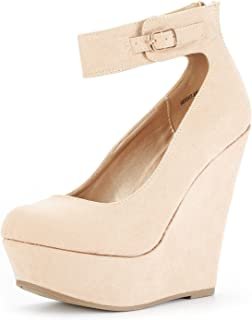 DREAM PAIRS Mary Jane Platform Wedges Shoes for Women