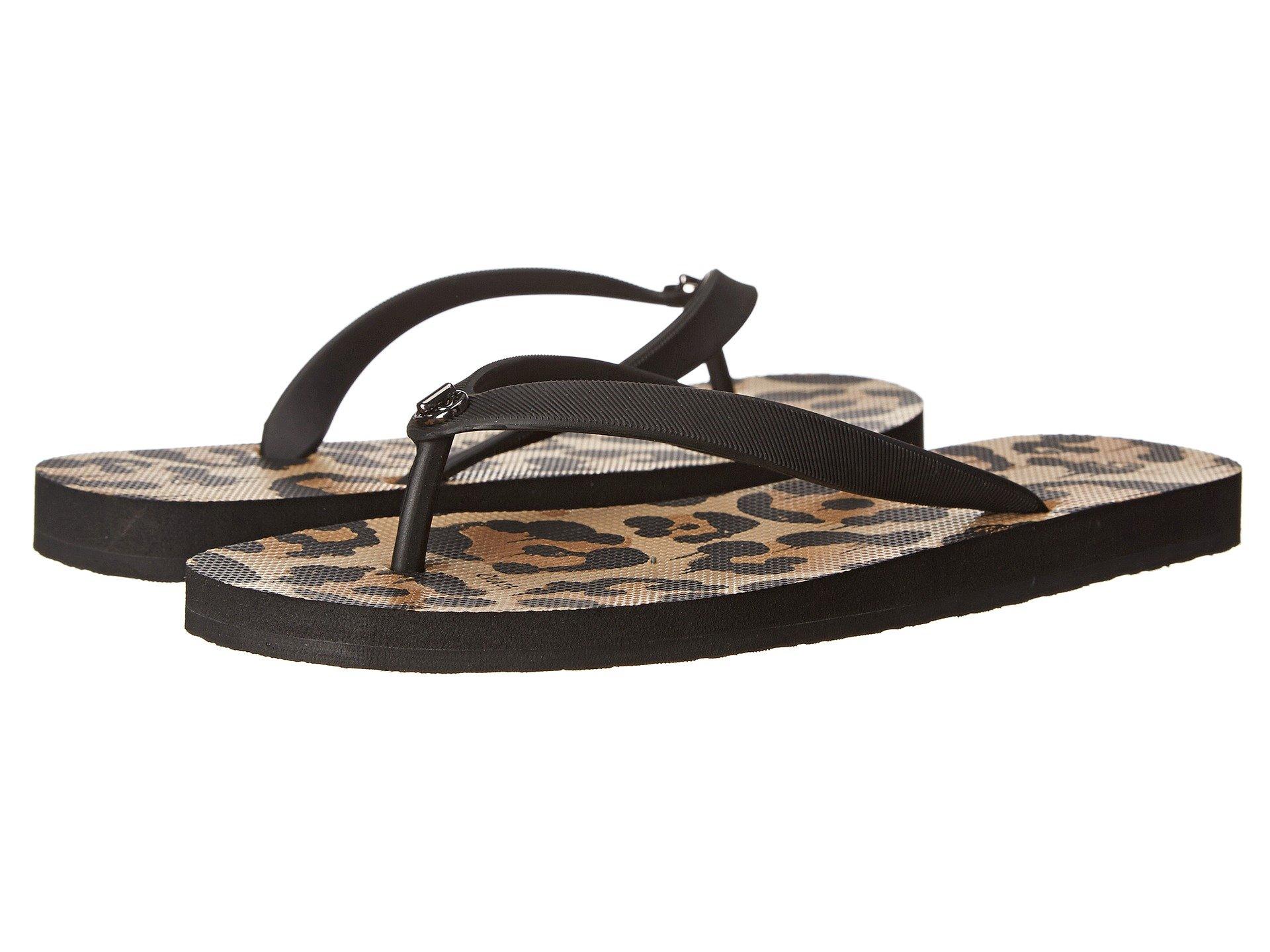 Womens Sandals COACH Alyssa Black/Natural Wild Beast