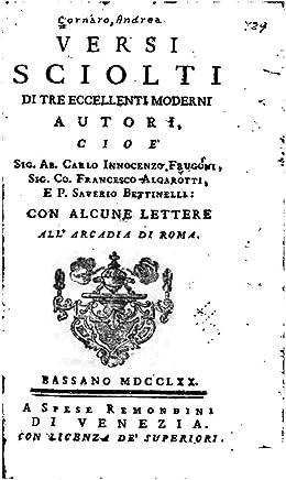 Versi Sciolti di Tre Eccellenti Moderni Autori