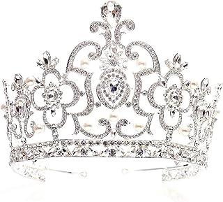 SuDeLLong Diademi della Corona Vintage Nuziale Diadema dei Monili delle Signore Adatto A Beauty Pageant Festa di Compleann...