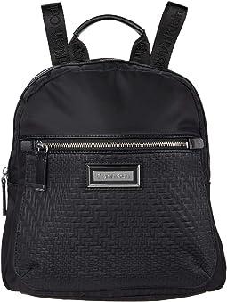 Belfast Wavy Weave Nylon Backpack