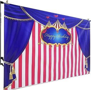 FiVan 2 x 1,5 m Zirkusvorhang Geburtstag Hintergrund Foto Hintergrund Party Wanddekoration W 322