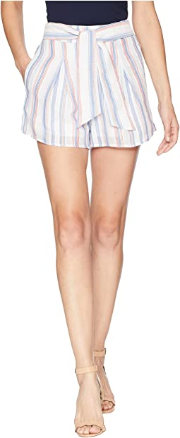 Pleated Shorts w/ Waist Tie