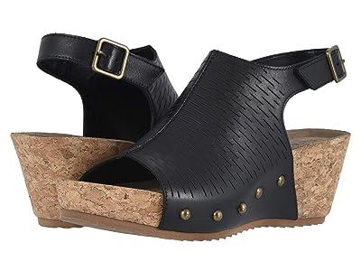 Walking Cradles Taminee (Black Accordion Perforated Leather) Women