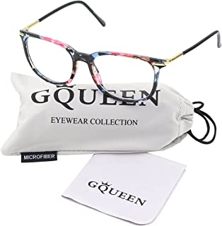 GQUEEN 201579 Fashion Metal Temple Horn Rimmed Clear Lens...
