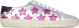 SAINT LAURENT Luxury Fashion Womens 59254106S108213 Silver Sneakers | Fall Winter 19