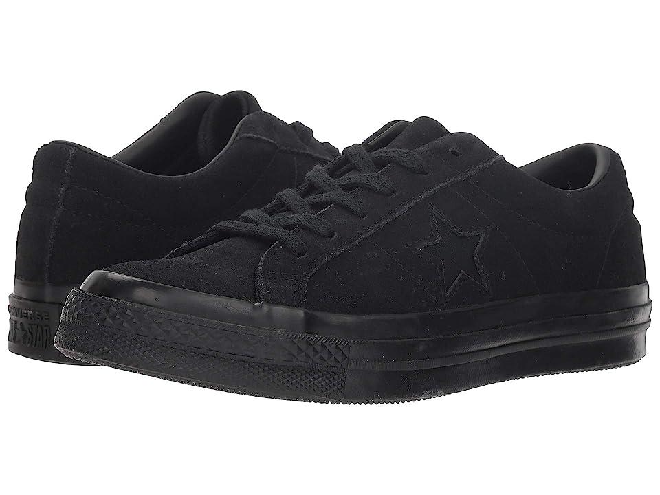 Converse Kids One Star Ox (Big Kid) (Black/Black/Black) Kids Shoes