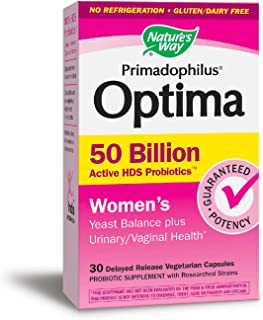Nature's Way Primadophilus Optima Women's 50 Billion, Acidophilus, 30 Count (Packaging May Vary)