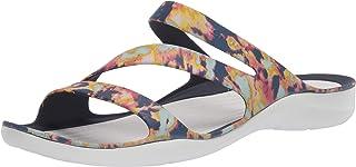 CROC Women's Swiftwater Tie Dye Sandal|Casual Slip On|Water and Beach Shoe Slide