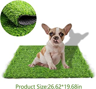 STARROAD-TIM Artificial Grass Rug Turf for Dogs Indoor Outdoor Fake Grass for Dogs Potty Training Area Patio Lawn Decoration (26.62 inches x 19.68 inches)